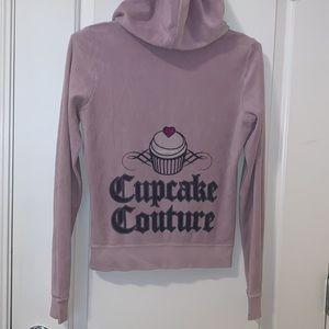 Juicy Couture Purple Velour Track Jacket Hoodie